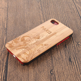 Nature Iphone Australia - Customized Engraving Wood Phone Case For Iphone X 8 7 6 6s Plus 5s Cover Nature Carved Wooden Bamboo Cases For Samsung S8 Plus S7 S6 edge S5