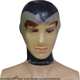 $enCountryForm.capitalKeyWord NZ - Black With Transparent Face Sexy Latex Hood With Lip Shape Mouth Eyes Nostril Open Zip At Back Rubber Mask TT-0164