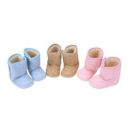 63401b3115b7 Diamondo 3 Colors Baby Winter Shoes Warm Snow Boots Newborn Plush Soft  Bottom First Walk Infant Anti-slip Comfortable Shoes