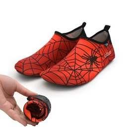 $enCountryForm.capitalKeyWord NZ - Spider-Man Print Quick-Dry Water Shoes Lightweight Anti-slip Swimming Aqua Socks Mutifunctional Barefoot For Beach Pool Surf Yoga