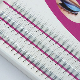 Discount thickness individual lashes - Wholesale Volume 3D Eyelash Extensions 0.07 Thickness Hair Mink Strip Eyelashes Individual Lashes Fans Lash Natural Styl
