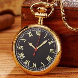 $enCountryForm.capitalKeyWord Australia - 1 Pcs Relogio Masculino Retro Golden Luminous Men's Fob Chain Mechanical Pocket Watch For Brithday Xmas Gift