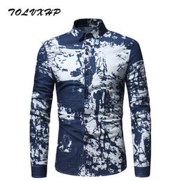 3x men 2019 - TOLVXHP Shirt Men Printing Plaid Shirt Long Sleeves Dress Casual Mens Camisa Masculina 2018 Brand Fashion Male Clothing