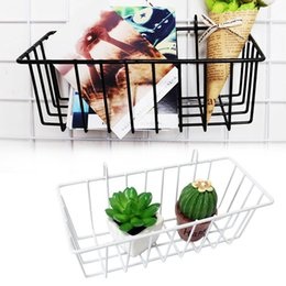 $enCountryForm.capitalKeyWord Australia - 2018 Grid Hanging Basket Iron Wall Mounted Decoration Innovative Flower Pot Shelf Small Items Display Rack Indoor Pendant