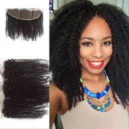 $enCountryForm.capitalKeyWord Australia - Mongolian Lace Frontal 13x4 Kinky Curly Lace Frontal Human Hair Natural Color 8-22 Inch Fast Shipping FDSHINE