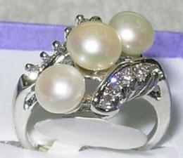 $enCountryForm.capitalKeyWord Australia - free shipping Fashion Jewelry white pearl Ring Size 7 8 9 10
