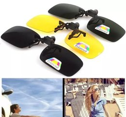 Free clip sunglasses online shopping - New Fashion Clip on Glasses Polarized Glasses Day Night Vision Clip on Sunglasses Driving Glasses