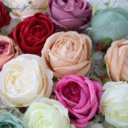 White Rose Arrangements Australia - 100PCS LOT big rose flower heads silk DIY wedding fake arrangement flower shop window display hotel wall DIY decoration for home C18111501