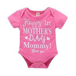 c071f0ec87 Mikrdoo 0-24M Newborn Infnat Baby Pink Short Sleeve Letter Print Romper  Clothes Toddler Cotton Sweet Bodysuit Playsuit