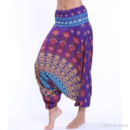 833000a9424 One Size Comfy Women Yoga Leggings Beach Baggy New Gypsy Harem Pants  Trousers Indian Summer Loose Yoga Dancing Sports Pants 2018