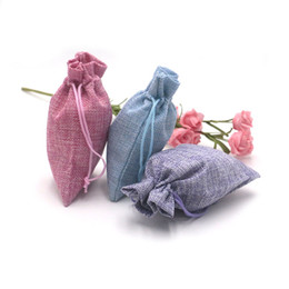 linen gift bag pouches Canada - 10x14cm Reusable Jute Linen Drawstring Pouch Packaging Gift Bag Charm Necklace Earring Storage Bag Jewelry Display 100pcs lot