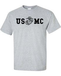 9c5d7d28 Marine Corps BULLDOG USMC Military Front & Back Print Men's Tee Shirt 842