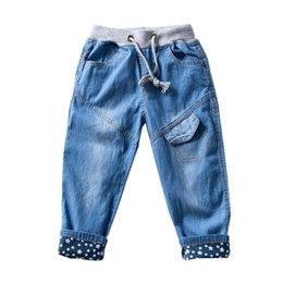 $enCountryForm.capitalKeyWord Australia - Boys Pants Jeans Kids Clothes Fashion Cotton Children Jeans For Girls Boys 2018 Casual Star Print Elastic Waist Kids Trousers