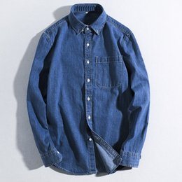 a5c6ac522d Quality Denim Shirts Men Spring Soft Thin Casual Cotton Long Sleeve Jeans  Shirt Man Fashion Vintag Jeans Tops Male Shirts TS-292
