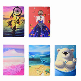 China Wallet Leather Australia - Dreamcatcher Girl Beach Bear Leather For Apple iPad Mini 1 2 3,4,Ipad 5 6 Air 2 7 8 2017 9.7'',Pro 10.5inch 2017 Wallet Case Cover Coque