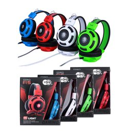 headset mic jack NZ - Gaming Headset with Mic Noise Cancellation Surround Sound Over Ear Headphones with Led Light Wired 3.5MM Jack Gaming Headphones