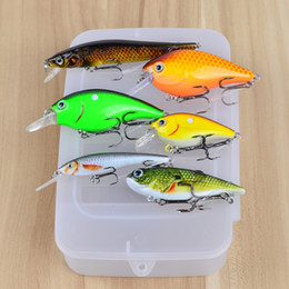 Bait Boxes Wholesale NZ - 1lot=6Pcs Box Pro Beros Brand High Quality Fishing Lure Mixed Size Fishing Bait 6#-10# High Carbon Steel Hook Fishing Tackle