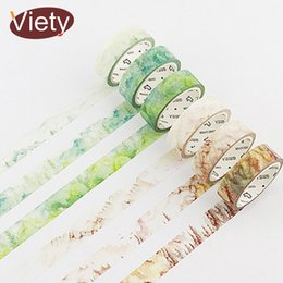 Wholesale 1 cm m Season landscape Natural plant washi tape DIY decorative scrapbooking sticker planner masking adhesive tape label