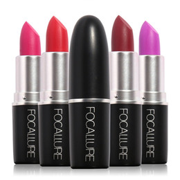 professional lipstick balm 2019 - FOCALLURE 18 Colors Matte Lipstick Professional Makeup Waterproof Baby Lip Balm Nude Lipgloss Lip Stick Cosmetic 1226037