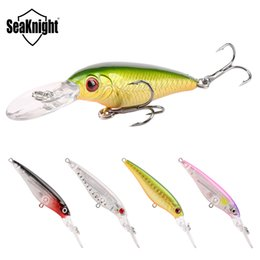 fishing crankbaits NZ - Brand Long Tongue Plastic Laser crankbaits Hovering bait 60mm 5.9g Freshwater Fishing Suspending Minnow Artificial bass lure