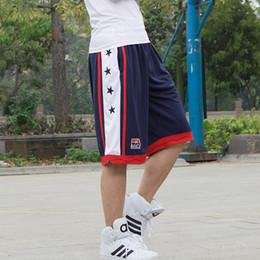 Großhandel USA Dream Team Basketball Shorts Herren Lose Sportwear Training Laufhose Mit Seitentaschen Plus L-5XL