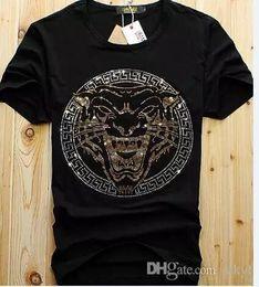 9ac04a82314a34 Cheap Wholesale Men Luxury Diamond Design Tshirt Fashion T-shirts Men Funny T  Shirts Brand Cotton Tops And Tees