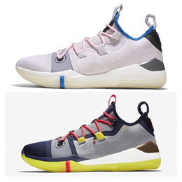 ef364c5b70e0 Drew League Game Basketball Shoes Kobe AD React Exodus Pink Purple Orange Sports  Shoes AAA+ quality KB 14 Mens Trainers Sneakers Size 40-46