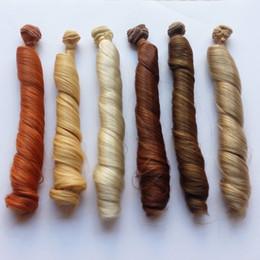 Discount bjd hair accessories - 5PCS LOT New DIY BJD Hair Wig High-temperature Wire Curly Doll Wigs Hair 25CM