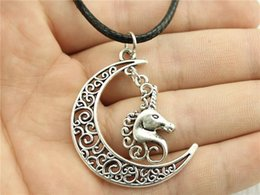 $enCountryForm.capitalKeyWord NZ - WYSIWYG 5 Pieces Leather Chain Necklaces Pendants Choker Collar Hand Made Necklace Men Lucky Horn Horse 26x15mm N6-B11573-B11758