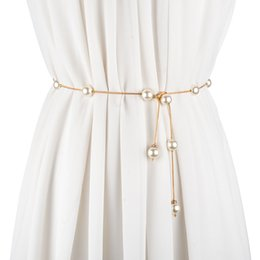 Women's Belts Fashion Imitation Pearl Beads Waist Elegant Unique Pearl Waist Belt Waist Chain Women Waistband Strap Accessories 2018 New Bringing More Convenience To The People In Their Daily Life