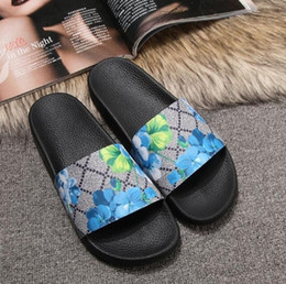 Snake Print Women Bags Canada - size 35-46 Men Women desige Sandals with bloom Flower Box Dust Bag Designer Shoes snake print Luxury Slide Summer Wide Flat Sandals Slipper
