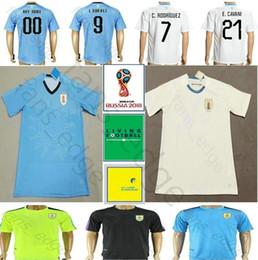 d11e2342f2f 2018 World Cup Uruguay Soccer Jersey 9 L.SUAREZ 21 E.CAVANI DE ARRASCAETA  GODIN RODRIGUEZ MAINDEZ Custom Away White Football Shirt