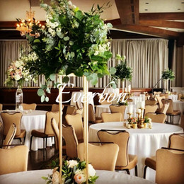 Decoration For Party Tables NZ - wedding decoration flower vase metal vases for artificial flowers gold table centerpiece for marriage ceremony anniversary party decor