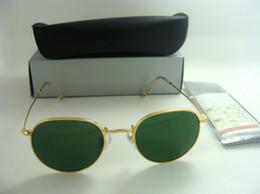$enCountryForm.capitalKeyWord NZ - Best Selling Round Sunglasses Eyewear Sun Glasses Designer Brand Silver Metal Green 50mm Glass Lenses For Mens Womens Brown Cases