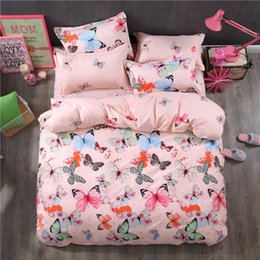 Butterfly sheet set queen size online shopping - Butterfly High Quality New Style Bedding Sets Bed Sheet Pillowcase Duvet Cover Sets Bed Sheet king Queen Full Twin Size