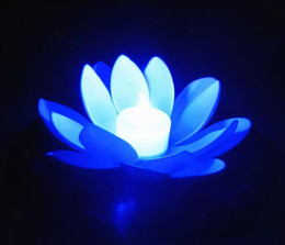 Floating Flowers candles online shopping - NEWPopular Artificial LED Candle Floating Lotus Flower With Colorful Changed Lights For Birthday Wedding Party Decorations Supplies Ornament