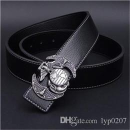 New Fashion men s Leather Belt Metal Eagle Buckle Belts Luxury American  Punk Rock Style Men High Quality Ceinture Waistband Gift hot sa a0b2cdda9b4