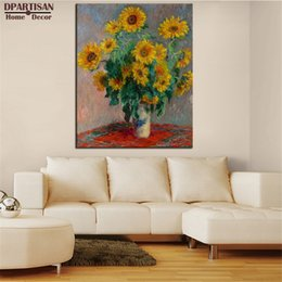 $enCountryForm.capitalKeyWord Australia - DPARTISAN Claude Monet vase of sunflowers wall art Prints No frame wall painting picture living room paintings