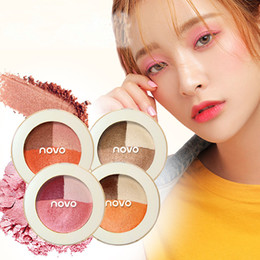 eyeshadow palette full size NZ - NOVO Fashion 3 Color Eyeshadow Palette Natural Make Up Earth Nude Shimmer Matte Eyeshadow Long Lasting Waterproof Cosmetics