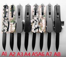 Plastic combat knives online shopping - 8 models Plastic handle BM knife Outdoor camping tools automatic knife tactical pocket knife outdoor survival man s gift