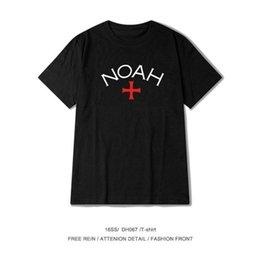 T-shirt manica corta in cotone con stampa a lettera rossa e rossa da uomo marca marea americana in Offerta