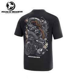 Discount cotton motocross jersey - Rock Biker Cotton Motorcycle T-shirt Men Short Sleeve Motocross jersey Men's Summer Mountain Course T Shirt Moto Ra