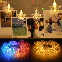 China 1.5M 3M Stars LED Christmas Tree Decor Light Wall Photo Clip Holder Lighting String New Year Party Wedding Home Decoration Fairy Battery suppliers