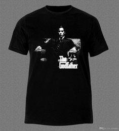 a79ff270453 Al Pacino Godfather II. Movie Film Mafia Zwart T-Shirt Mannen Grappige O  Hals Korte Mouw Katoenen T-shirt Nieuwste 2017 Mode