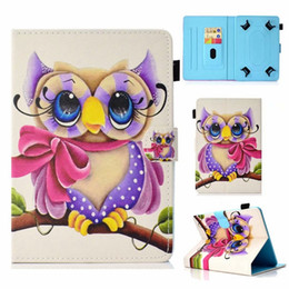 $enCountryForm.capitalKeyWord Australia - Universal For 7 8 10 inch Tablet Samsung Galaxy Tab iPad Tablet PC Cartoon Leather Wallet Case Sea Butterfly Mandala Tower Owl Skin Cover