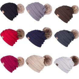 e30b7407a60 Women s Fashion Knitted Cap Autumn Winter Men Cotton Warm Hat CC Heavy Hair  Ball Twist Beanies Solid Color Hip-Hop Wool Hats