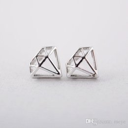 Vintage Diamond Stud Earrings NZ - Retro Hollow diamond Double Sided Earring Piercing Stud Earrings for Women Vintage Jewellery Mother's Day Gifts Party jl-170