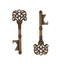 Großhandel Vintage Key Flaschenöffner Schlüsselform Flaschenöffner Stahl Bronze Schlüsselanhänger Flaschenöffner Antik Retro-Öffner