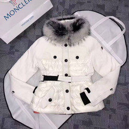 0293bda6e4 Womens hot short skiing simple down jacket fur collar handsome ladies can  be detached waist warm thick hooded top luxury down jacket