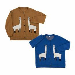 Sweater Coat Kids NZ - 2017 New Selling Autumn Girls Fashion Knitted Cardigan Sweater Jacket Coats Kids Alpaca Printing Tiny Cotton Children's Clothing